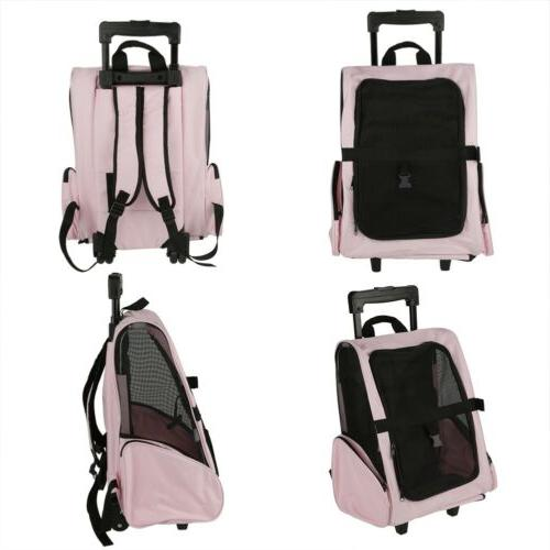Pet Carrier Rolling Luggage Bag