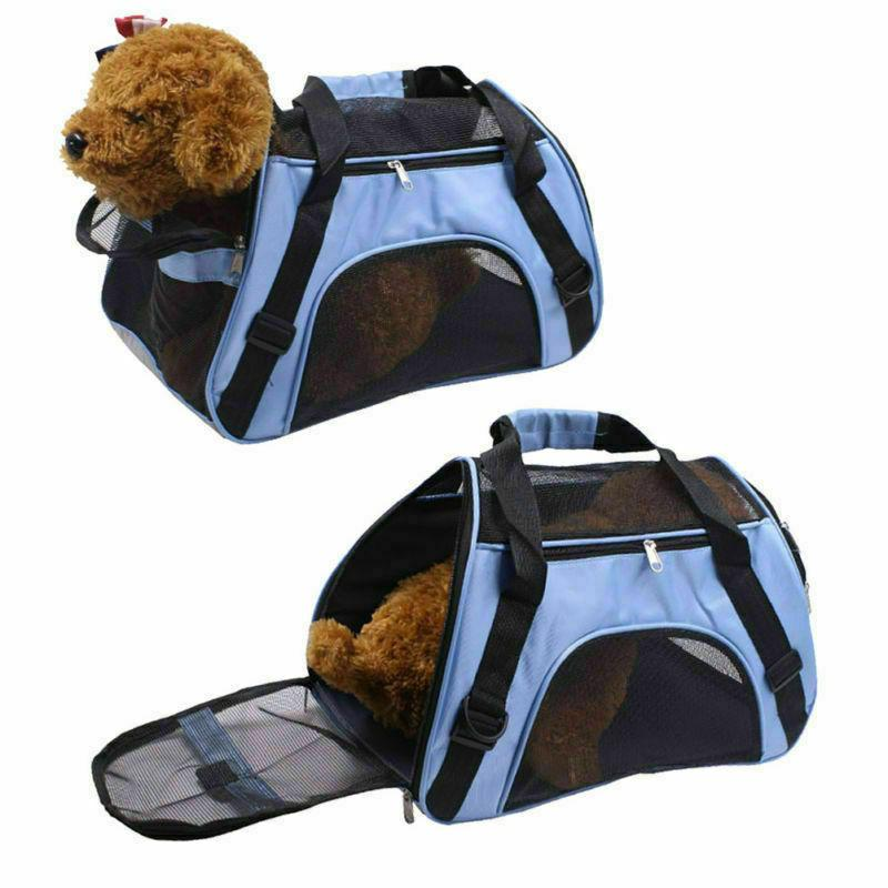 Pet Carrier Small Large Dog Comfort Blue Approved 2019