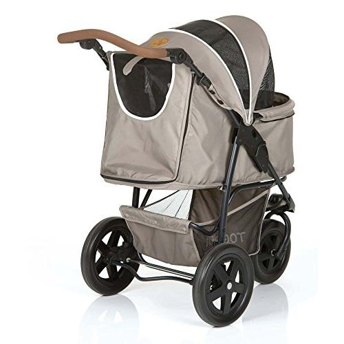 TOGfit Pet - Luxury Stroller Cat   Easy Three Wheels Jogger max. Loading lb, Included Gray