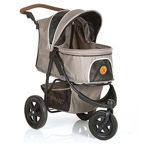 TOGfit Luxury Pet Stroller Puppy, Cat   Easy Three Wheels Travel Pet lb, Mattress Included - Gray