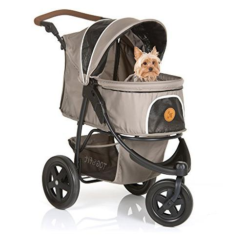 TOGfit Roadster Luxury Pet Stroller Puppy, or Cat Easy Three Wheels Jogger lb, Mattress Gray