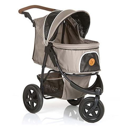 TOGfit Luxury for Puppy, Dog Cat   Easy Three Wheels Jogger Loading lb, Mattress Included Gray