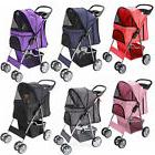 OxGord Pet Stroller Cat Dog 4 Wheeler Easy Walk Stroller Tra