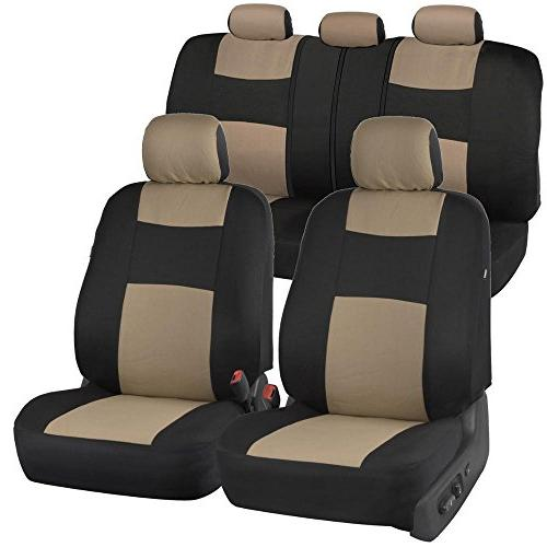 polycloth blackbeige car seat covers