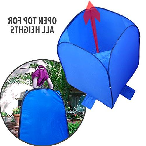 Pop-Up Room Bag Instant Portable Shower Bathroom Dura-light Steel Weather-Resistant for Pontoon / Fishing Sail Included Tie-Down