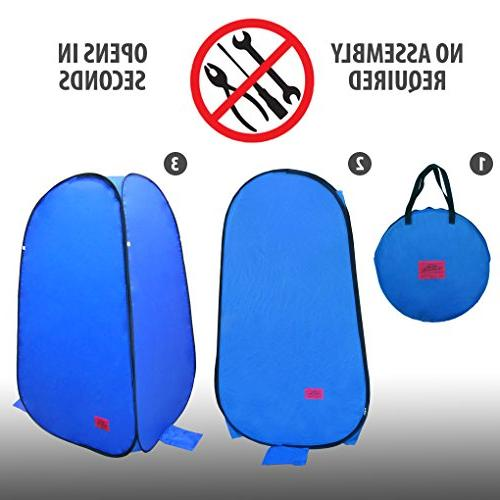 Pop-Up Room in Bag Shower with Dura-light Weather-Resistant material Fishing Included Tie-Down