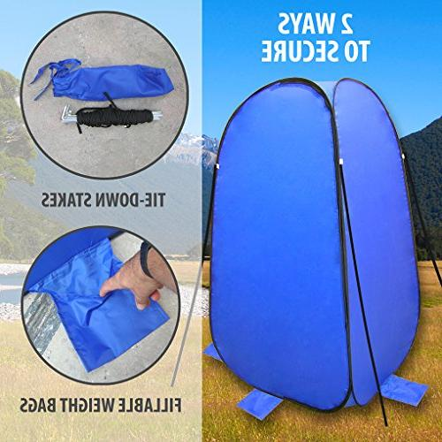 Pop-Up Bag Instant Shower and Bathroom Weather-Resistant for for Pontoon Fishing Included