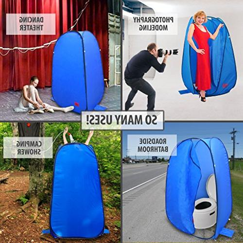 Pop-Up Room Bag Instant Portable Shower and Bathroom with Dura-light Pontoon / Included Tie-Down