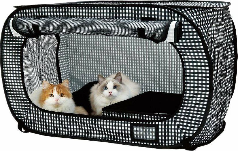 portable stress free cat cage by