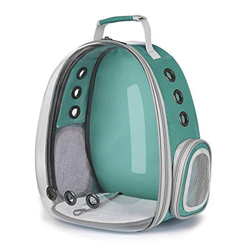 puppy carrier travel bag space capsule transparent