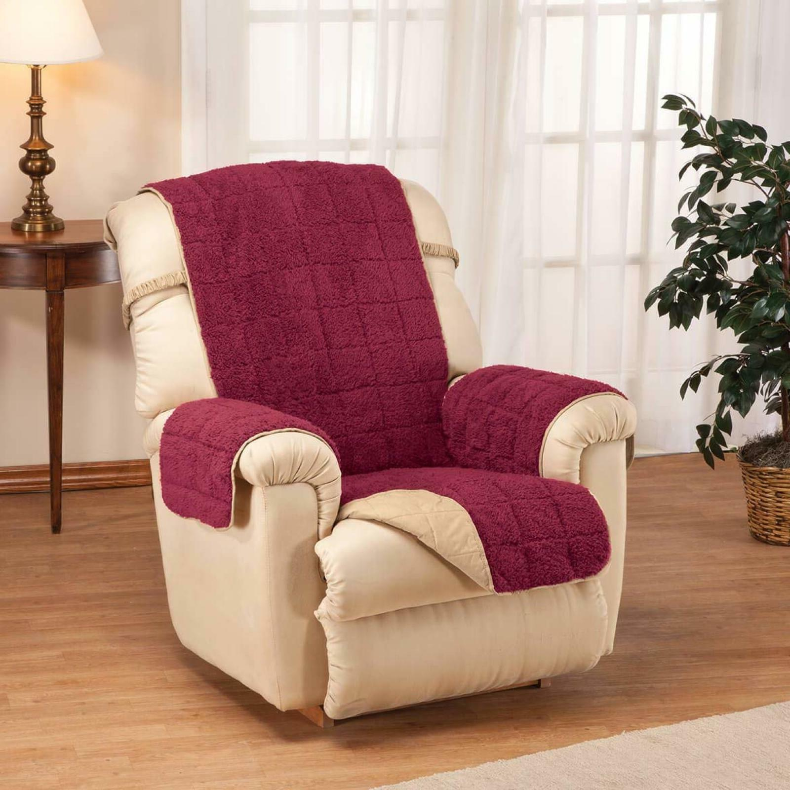 Recliner Chair Cover Protector Waterproof Backing Quilted Sh