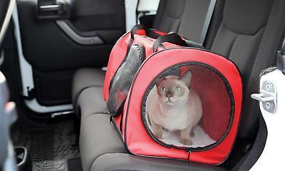 Red Large Carrier Travel Bag W/ Tunnel - For Kitty