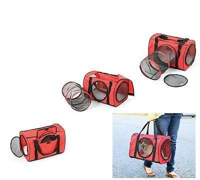 red large cat carrier travel bag w