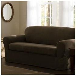 Reeves Stretch Two Piece Loveseat Slipcover - Color: Dark Sa