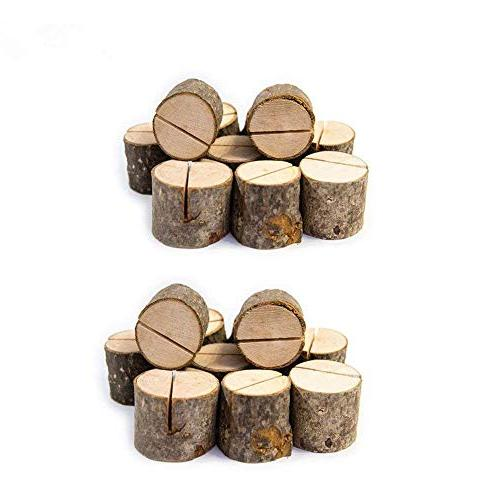 Rustic Wood Table Numbers Holder Wood Place Card Holder Part