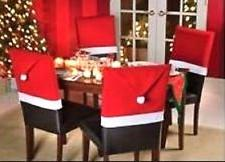 "Christmas House 20"" Santa Hat Chair Covers"