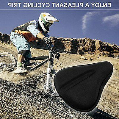 Seat Clamps Size Exercise Bike Soft Wide Gel Cushion for