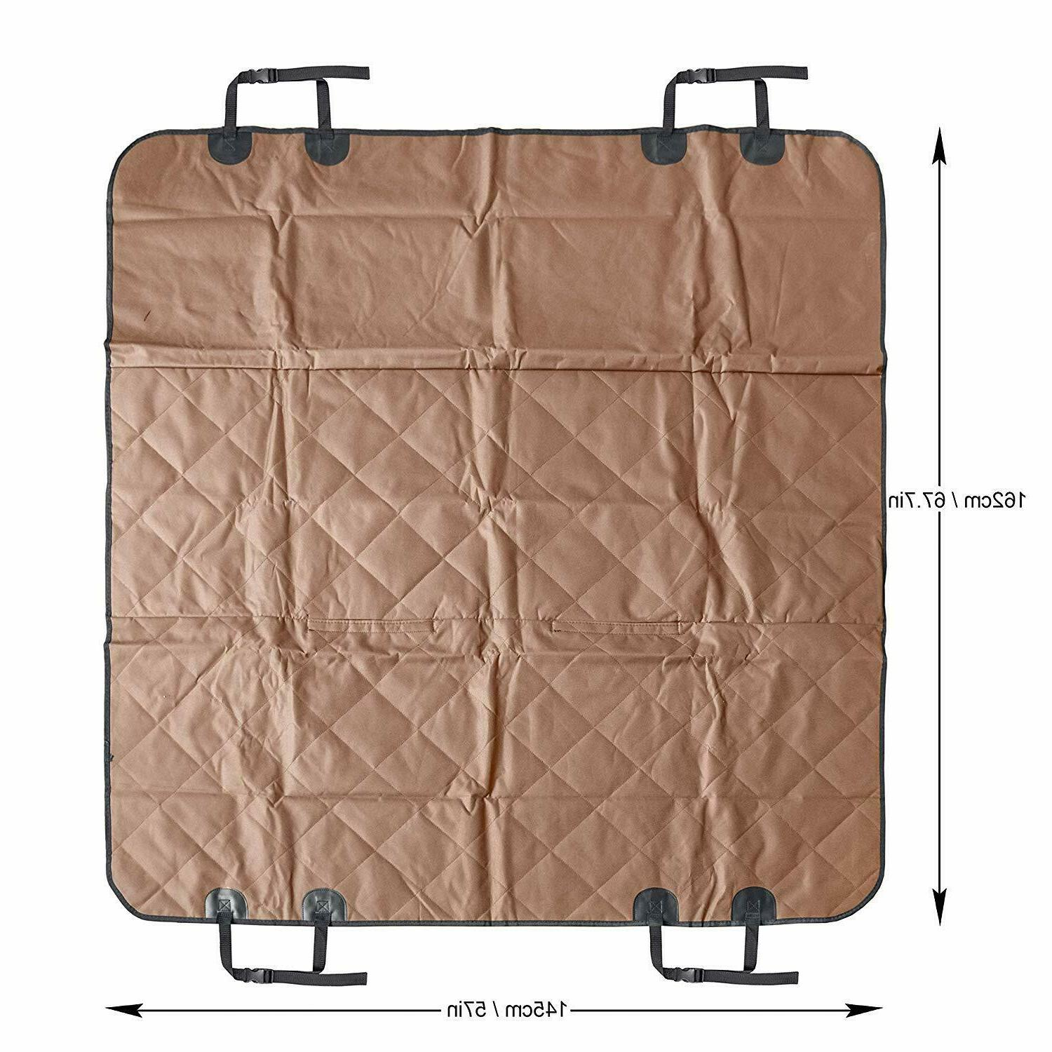 Seat Cover Back Car Waterproof Protector -Brown