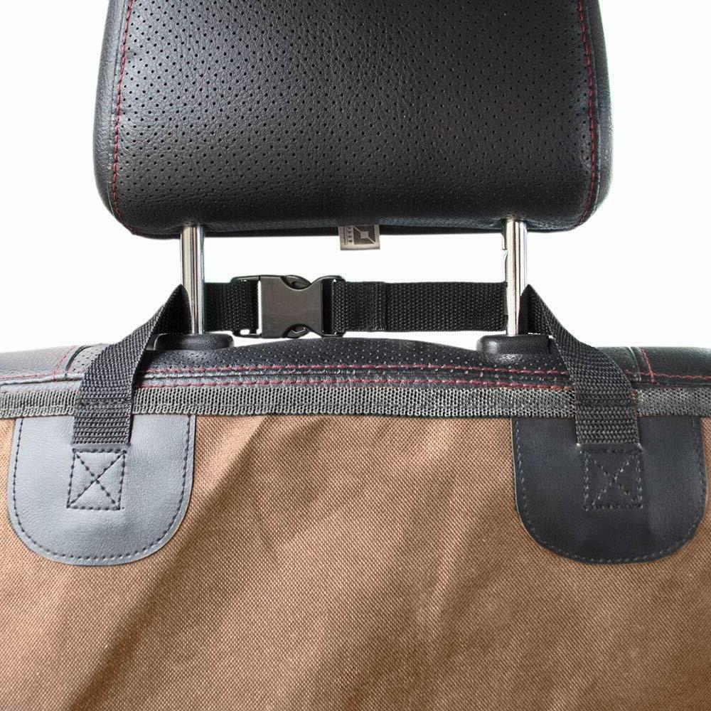 Seat Cover Car Dog Waterproof Bench -Brown