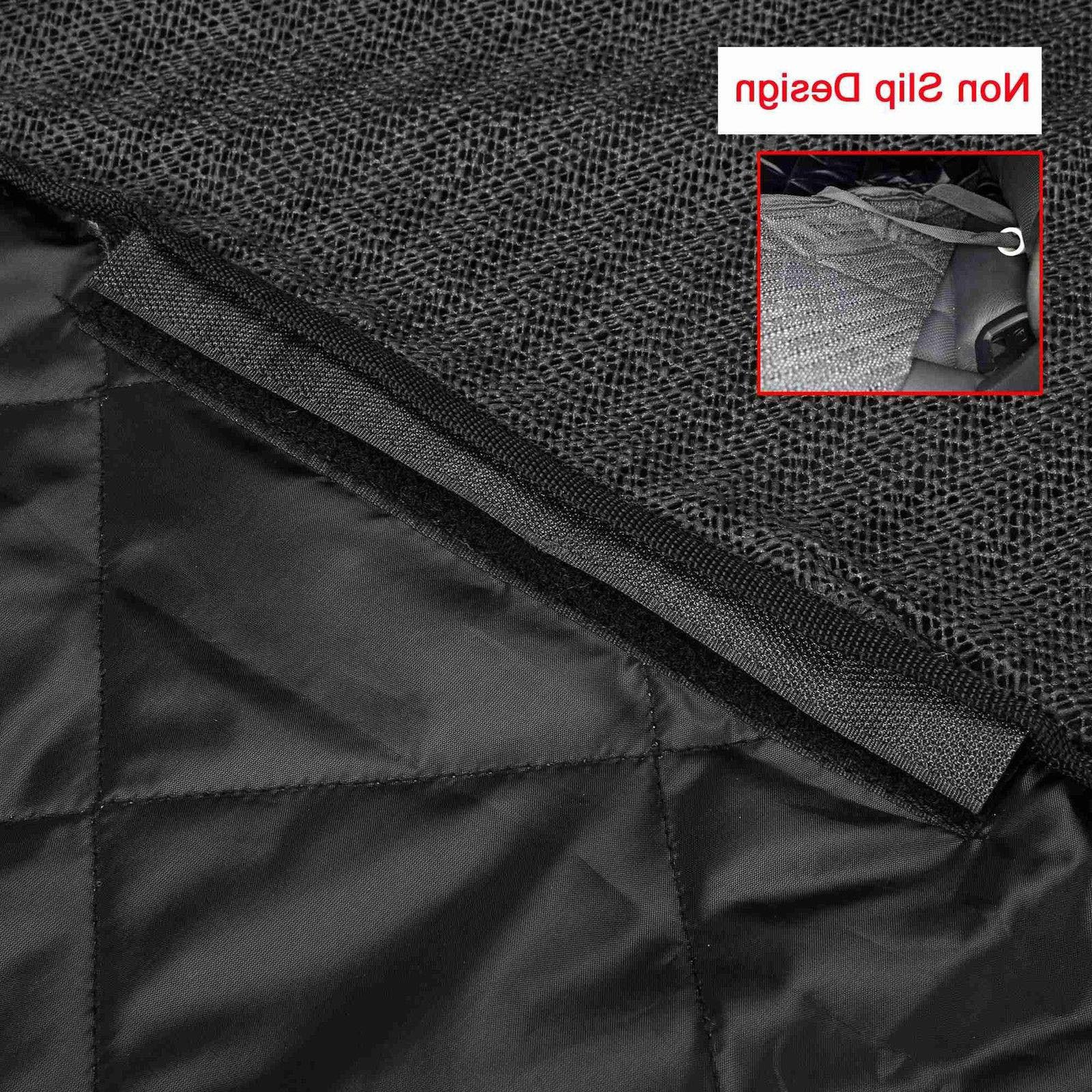 Seat Cover Back Car Pet Dog Travel Waterproof Bench Protector Luxury -Black
