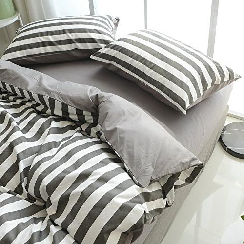 simple striped plaid dorm bed