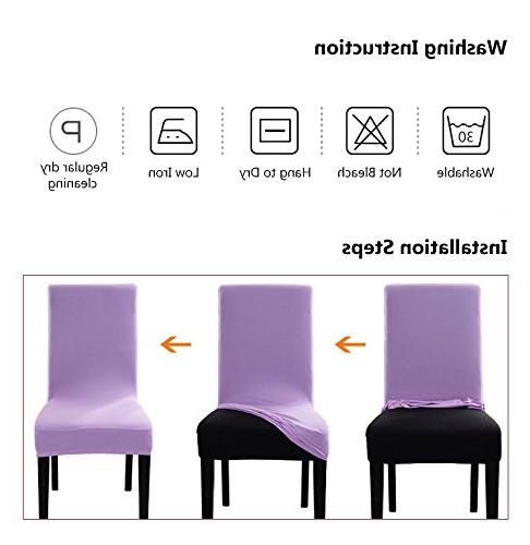 ColorBird European Spandex Fabric Chair Universal Chair Protector Room, Hotel, Banquet,