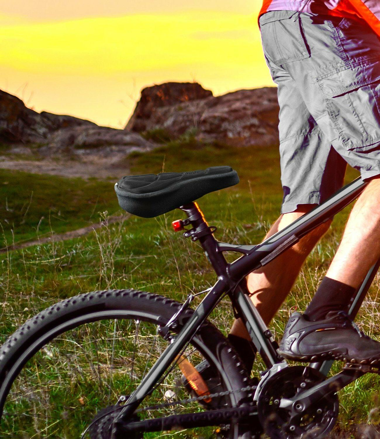 Sport Cushion Cover Memory Foam For Bicycle Black