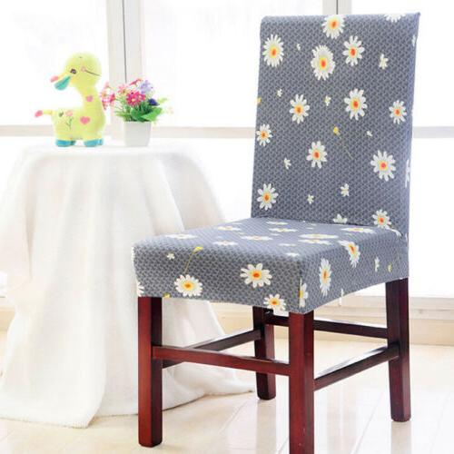 Stretch Chair Seat Elastic Washable Dining Room Slipcovers