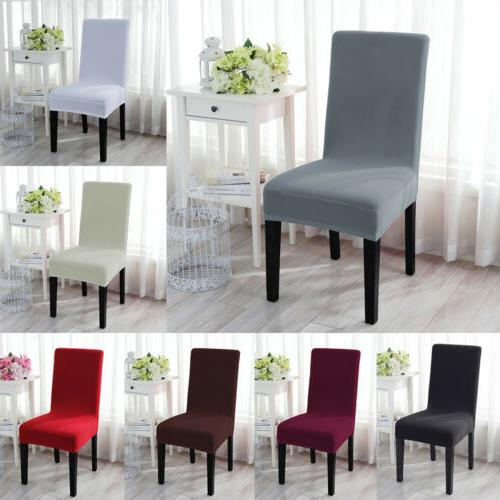 stretch spandex dining chair seat cover protector
