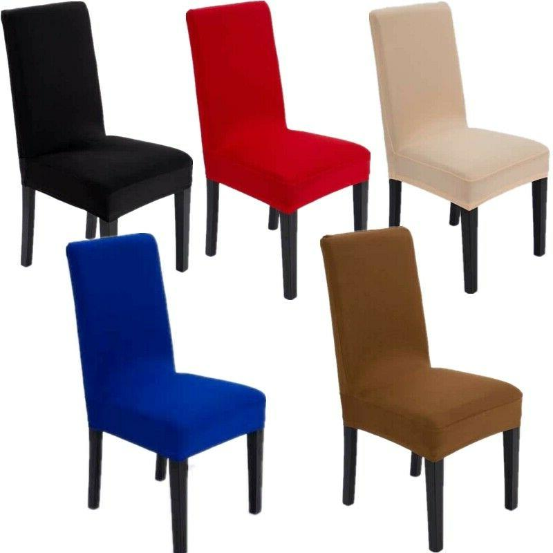 stretch spandex dining chair seat cover slipcovers