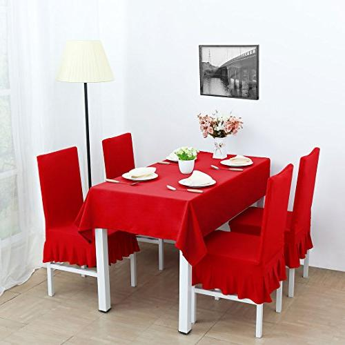 uxcell Stretch Spandex Dining Room Chair Covers Chair Seat Red