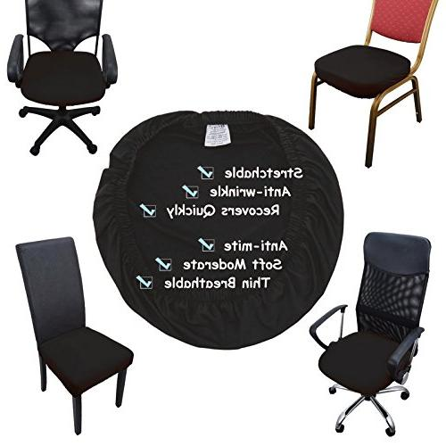 Voilamart Chair Seat Covers, Dining Chair Cover, Stretchable Soft Chair Protectors for Bar Stools Dining Room Office Pack