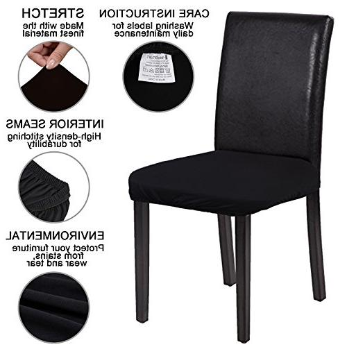 Voilamart Dining Chair Cover, Soft Chair Protectors for Bar Stools Room Patio Office Pack 4,