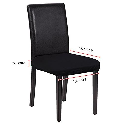 Voilamart Seat Dining Soft Slipcovers for Stools Room Patio Office Pack 4,