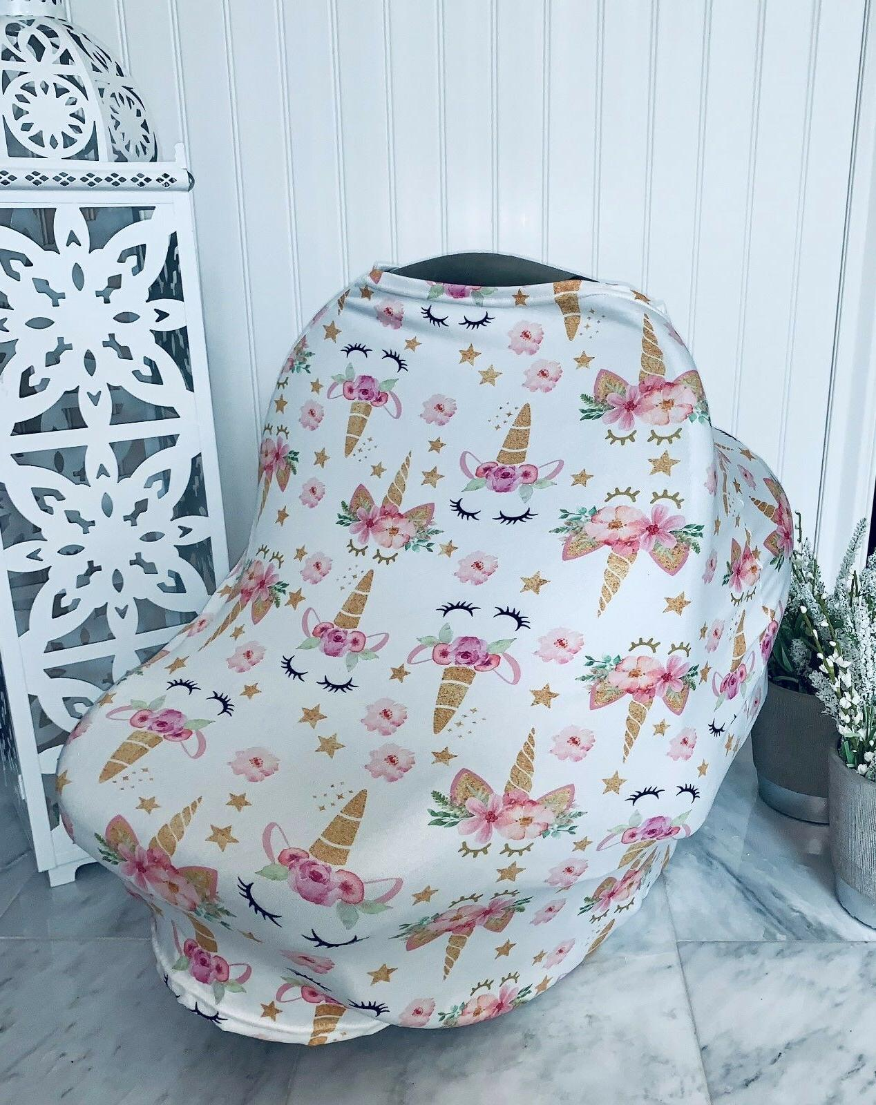 Stretchy Use Seat Canopy, Cover, Unicorn, Baby