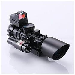 IRON JIAS 3-10X42 Tactical Rifle Scope w Red Laser Holograph