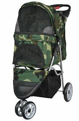 three wheel pet stroller cat