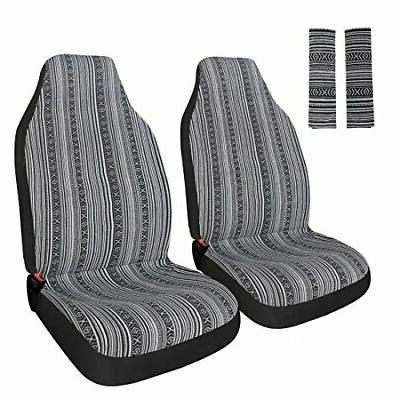 universal stripe colorful 4pc front seat covers