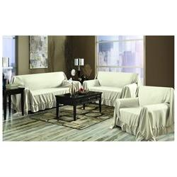 Venice Home 3 Piece Sofa, Loveseat, Chair Protector Throw Co