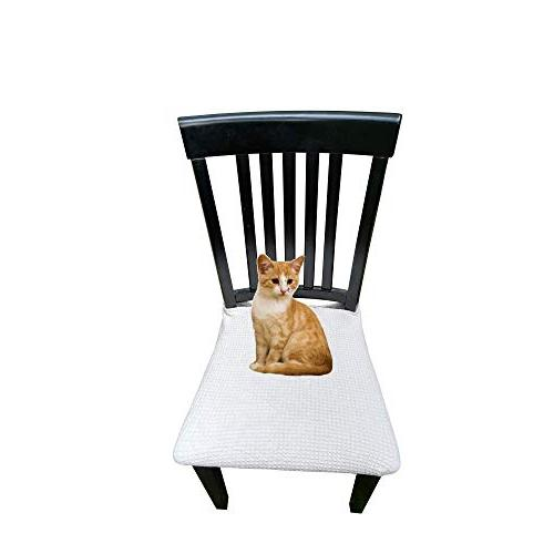 Waterproof Dining Chair Protector Pack 2 - Perfect For Pets, Party - Machine Washable, Elastic, Removable,Many Color Choices, Clean the