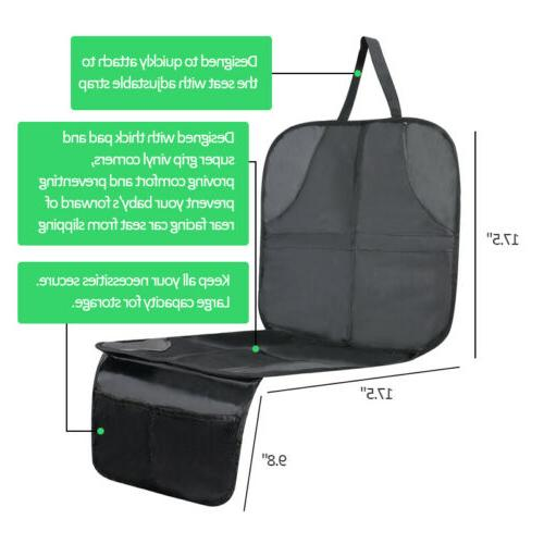 Car Seat Protector Thickest Padded Organizer