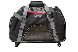 Bergan LARGE WHEELED Comfort Carrier for small Pets, Dog or