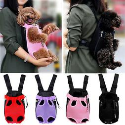 Legs Out Front Dog Carrier Hands-Free Adjustable Pet Cat Pup