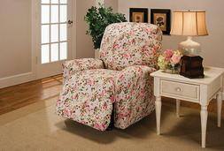 JERSEY PINK FLORAL WASHABLE SLIPCOVER FOR  RECLINER SOFA COU
