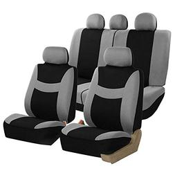 FH Group Light & Breezy Cloth Seat Cover Set Airbag & Split