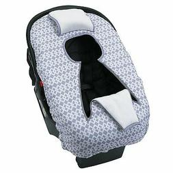 Little Love by NoJo On The Go Baby Car Seat Cover-Up, Gray/W