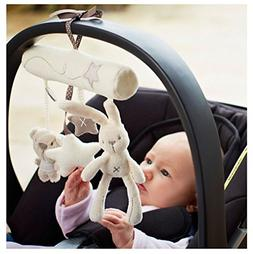 Myhouse Lovely Rabbit Baby Music Hanging Toys Spiral Activit
