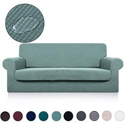 Loveseat Cover with Separate Seat Cushion Cover - Water Repe