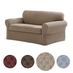 Loveseat Sofa Slipcover 2 Piece Pixel Stretch Furniture Cush