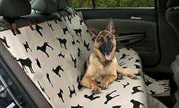Luxury Pet Car Van SUV Back Rear Bench Seat Cover Waterproof